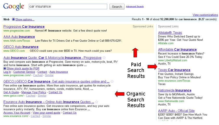 internet search engine marketing